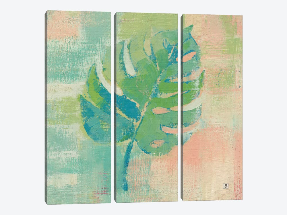 Beach Cove Leaves I by Studio Mousseau 3-piece Canvas Wall Art