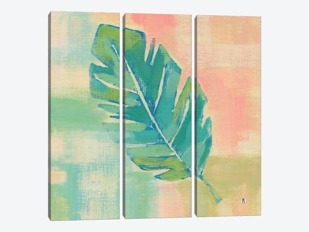 Beach Cove Leaves III by Studio Mousseau 3-piece Canvas Wall Art