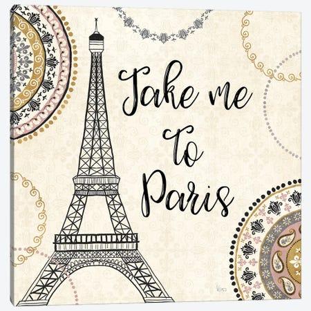 Romance In Paris I Canvas Print #WAC7469} by Veronique Charron Art Print