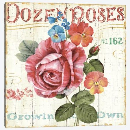Rose Garden II Canvas Print #WAC746} by Lisa Audit Canvas Artwork