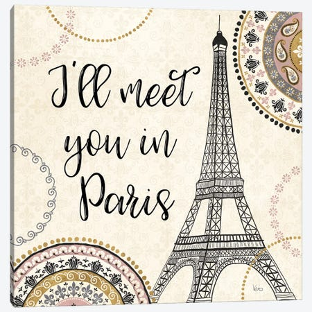 Romance In Paris II Canvas Print #WAC7470} by Veronique Charron Canvas Art