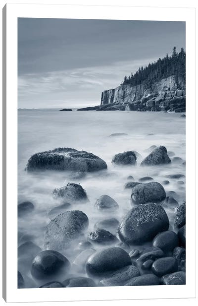 Acadia Coast, With Border Canvas Art Print