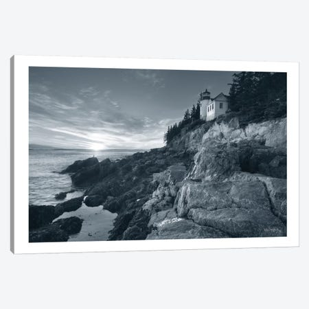 Bass Harbor Head Sunset Canvas Print #WAC7486} by Alan Majchrowicz Canvas Art