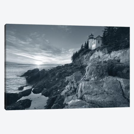 Bass Harbor Head Sunset, No Border Canvas Print #WAC7487} by Alan Majchrowicz Canvas Art