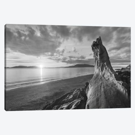 Samish Bay Sunset, B&W I Canvas Print #WAC7508} by Alan Majchrowicz Canvas Art