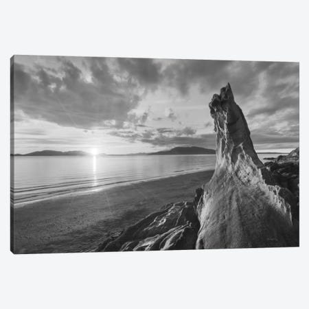 Samish Bay Sunset, B&W I Canvas Print #WAC7508} by Alan Majchrowicz Canvas Art