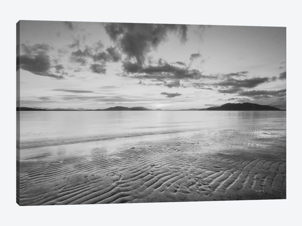 Samish Bay Sunset, B&W II 1-piece Canvas Print