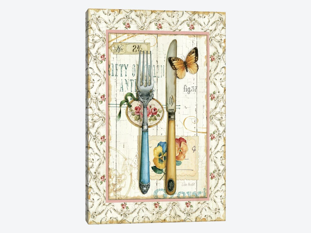 Rose Garden Utensils I 1-piece Canvas Art