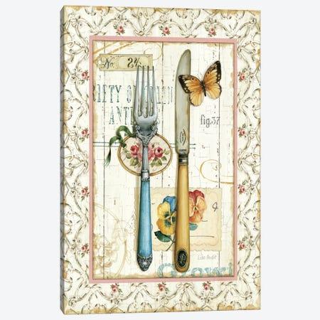 Rose Garden Utensils I Canvas Print #WAC750} by Lisa Audit Canvas Art