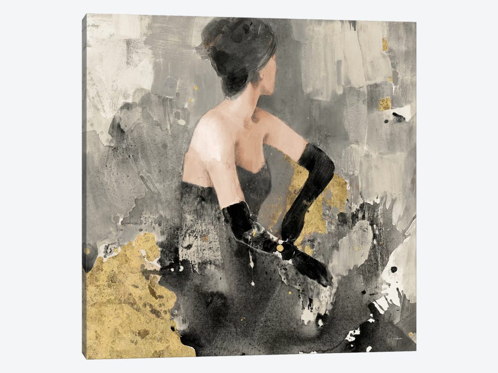 Beautiful Gaze I Neutral Gold by Albena Hristova 1-piece Canvas Artwork