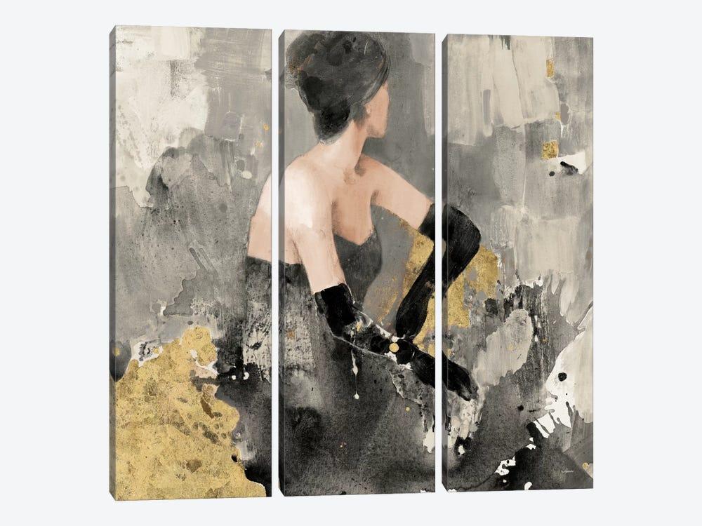 Beautiful Gaze I Neutral Gold by Albena Hristova 3-piece Canvas Artwork