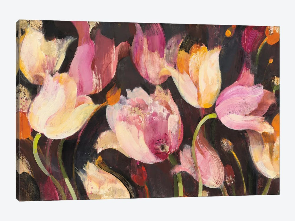 Popping Tulips by Albena Hristova 1-piece Canvas Print