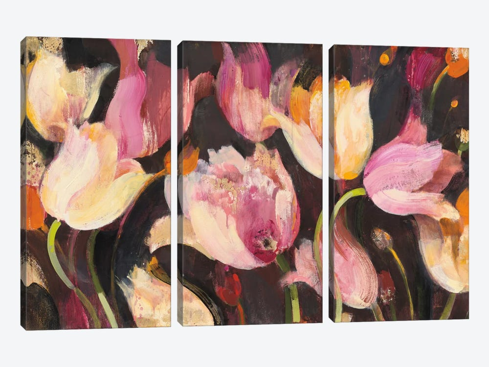 Popping Tulips 3-piece Art Print