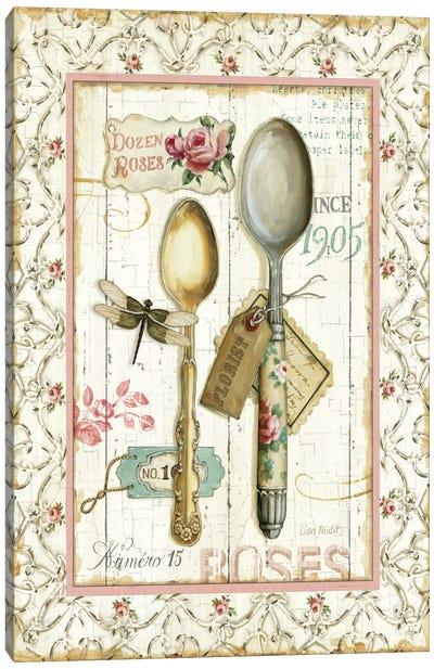 Rose Garden Utensils II Canvas Print #WAC751