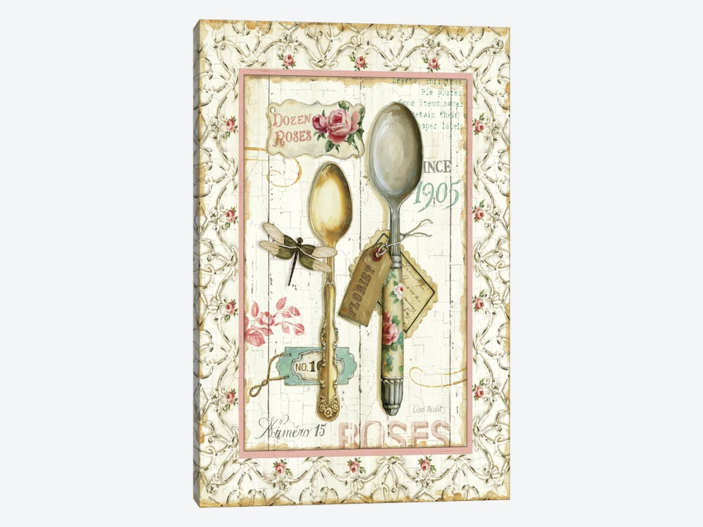Rose Garden Utensils II by Lisa Audit 1-piece Art Print