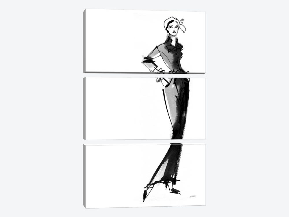 Fifties Fashion III by Anne Tavoletti 3-piece Canvas Art Print