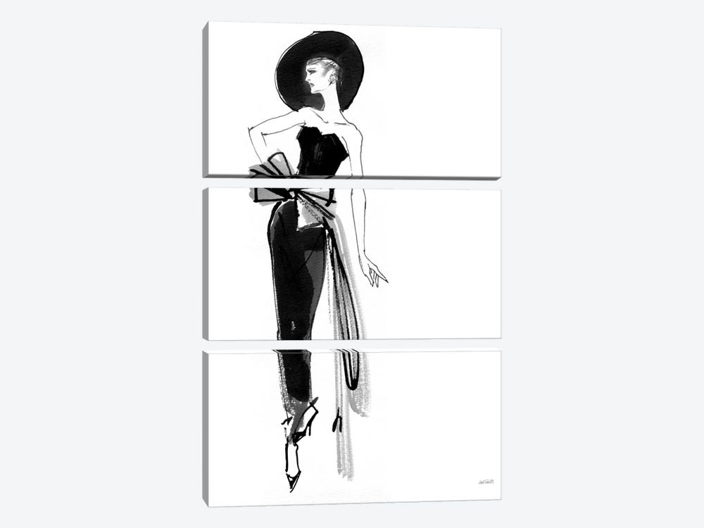 Fifties Fashion IV by Anne Tavoletti 3-piece Canvas Artwork