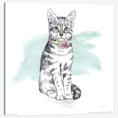 Fancy Cats Watercolor I Canvas Print #WAC7537} by Beth Grove Canvas Wall Art
