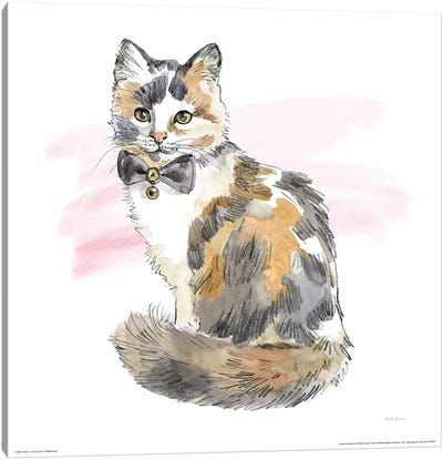 Fancy Cats Watercolor II Canvas Art Print
