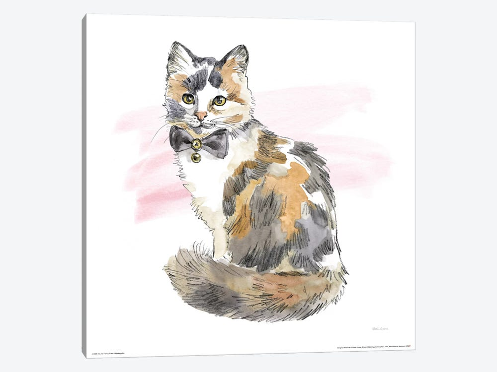 Fancy Cats Watercolor II by Beth Grove 1-piece Canvas Print