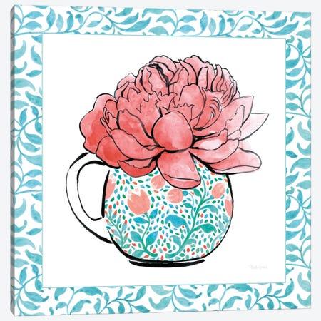 Floral Teacup Vine Border I Canvas Print #WAC7540} by Beth Grove Canvas Wall Art