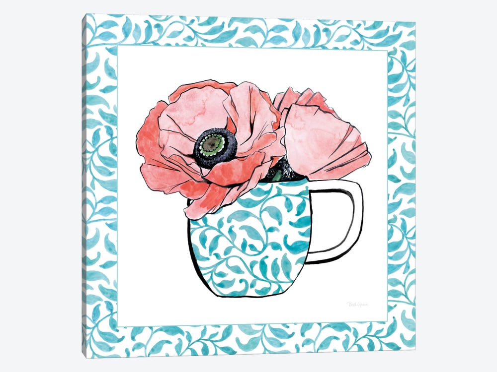 Floral Teacup Vine Border II by Beth Grove 1-piece Art Print