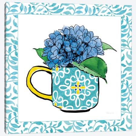 Floral Teacup Vine Border III Canvas Print #WAC7542} by Beth Grove Canvas Wall Art
