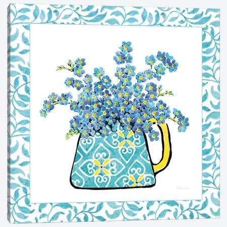 Floral Teacup Vine Border IV Canvas Print #WAC7543} by Beth Grove Canvas Artwork