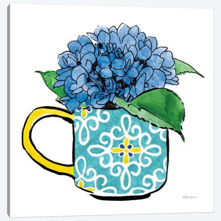 Floral Teacups III Canvas Print #WAC7546} by Beth Grove Canvas Art Print
