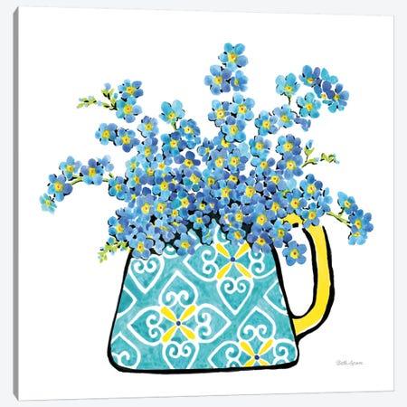 Floral Teacups IV Canvas Print #WAC7547} by Beth Grove Canvas Art Print