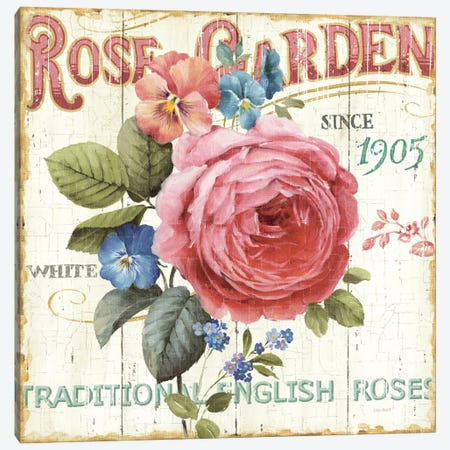Rose Garden I  Canvas Print #WAC754} by Lisa Audit Canvas Print
