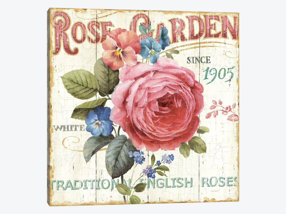 Rose Garden I  by Lisa Audit 1-piece Canvas Artwork