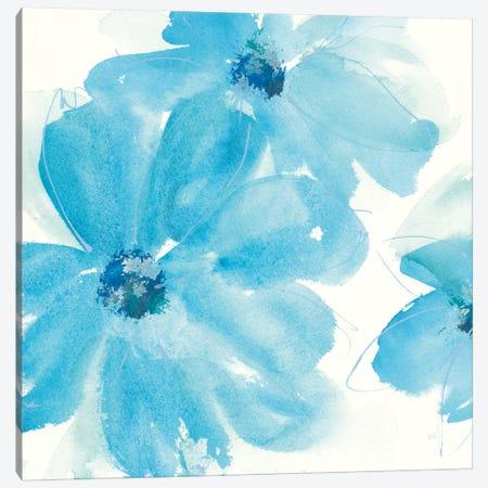 Aqua Mint Clematis I Canvas Print #WAC7555} by Chris Paschke Canvas Artwork
