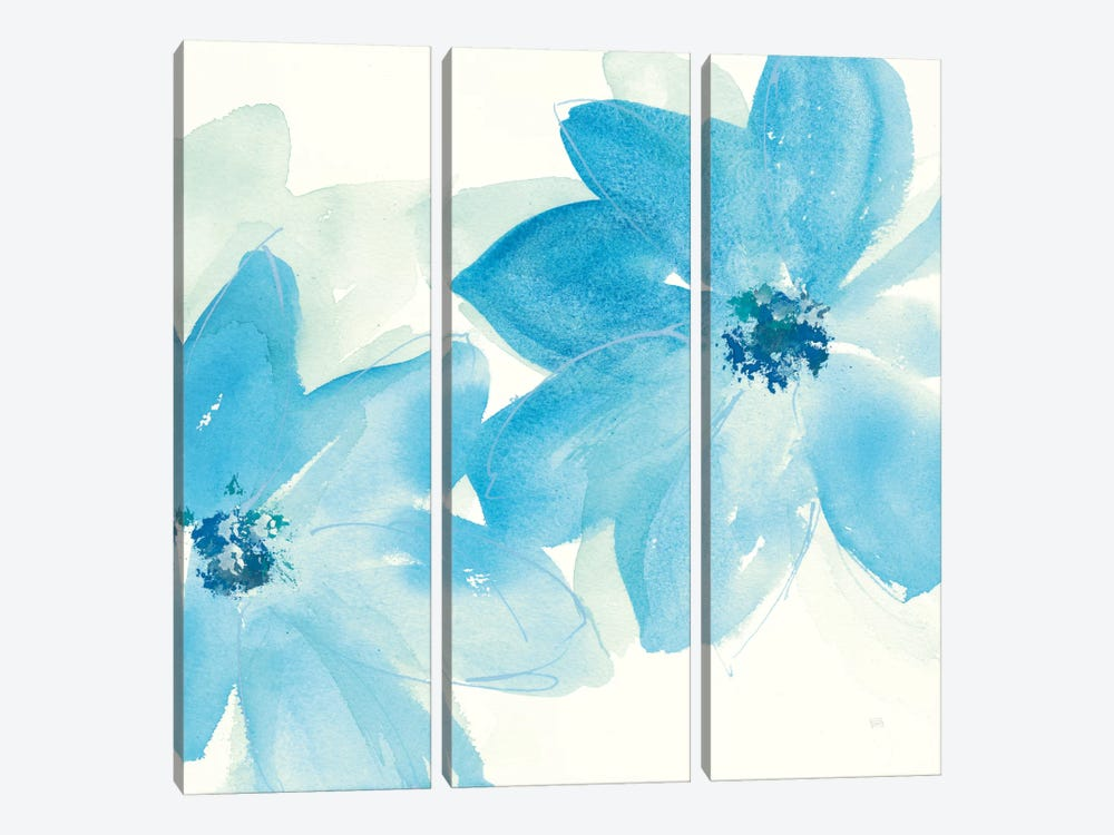 Aqua Mint Clematis II by Chris Paschke 3-piece Art Print