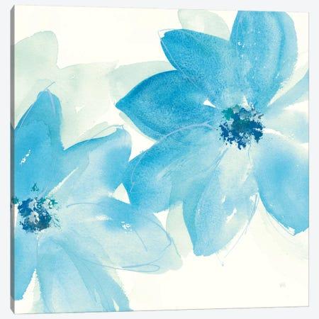 Aqua Mint Clematis II Canvas Print #WAC7556} by Chris Paschke Canvas Art