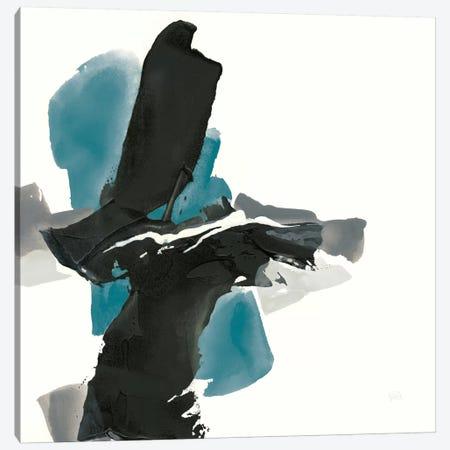 Black And Teal IV Canvas Print #WAC7558} by Chris Paschke Canvas Art Print