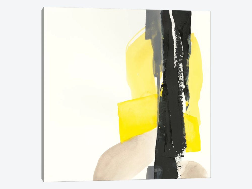 Black And Yellow I by Chris Paschke 1-piece Canvas Wall Art