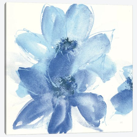 Cobalt Clematis I Canvas Print #WAC7565} by Chris Paschke Canvas Print