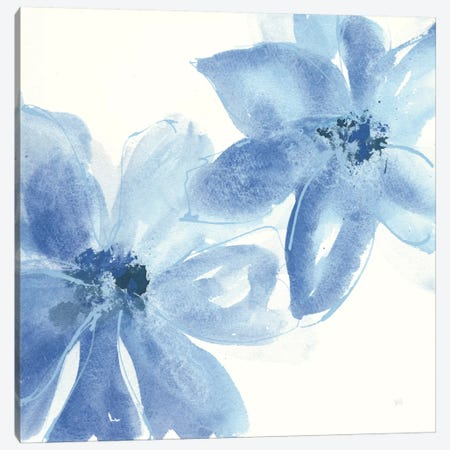 Cobalt Clematis II Canvas Print #WAC7566} by Chris Paschke Canvas Print
