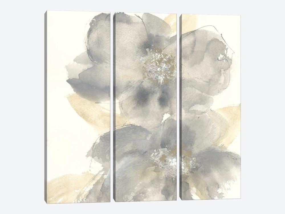 Floral Gray II by Chris Paschke 3-piece Canvas Art