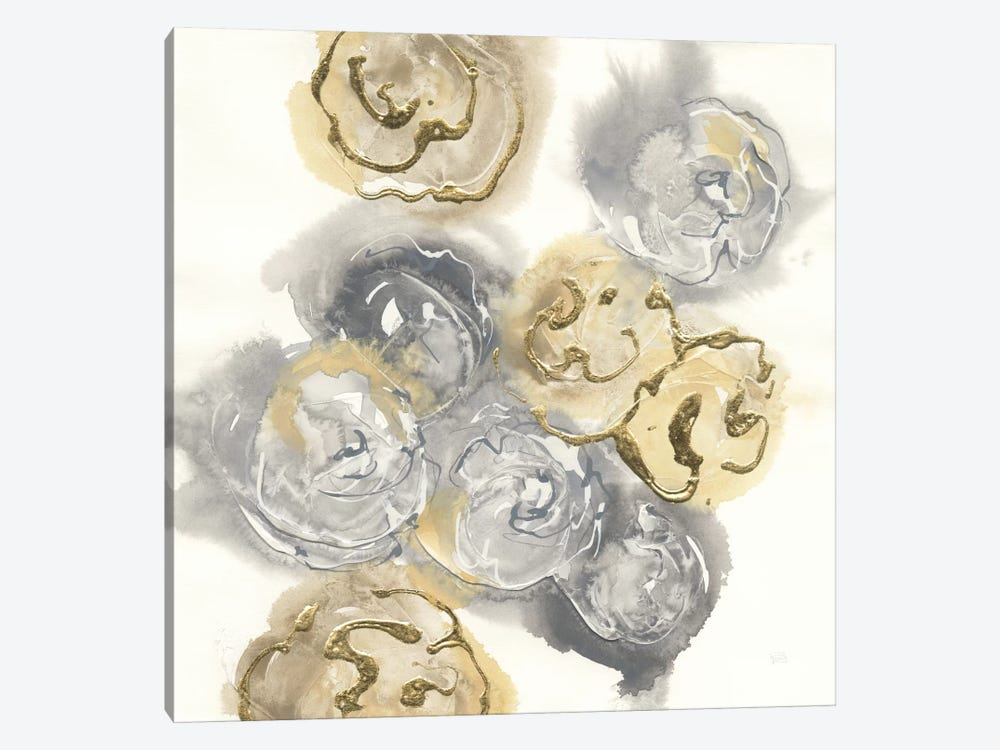 Gold Edged Neutral I 1-piece Canvas Wall Art