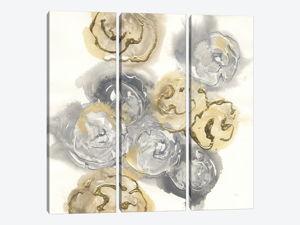 Gold Edged Neutral I by Chris Paschke 3-piece Canvas Art