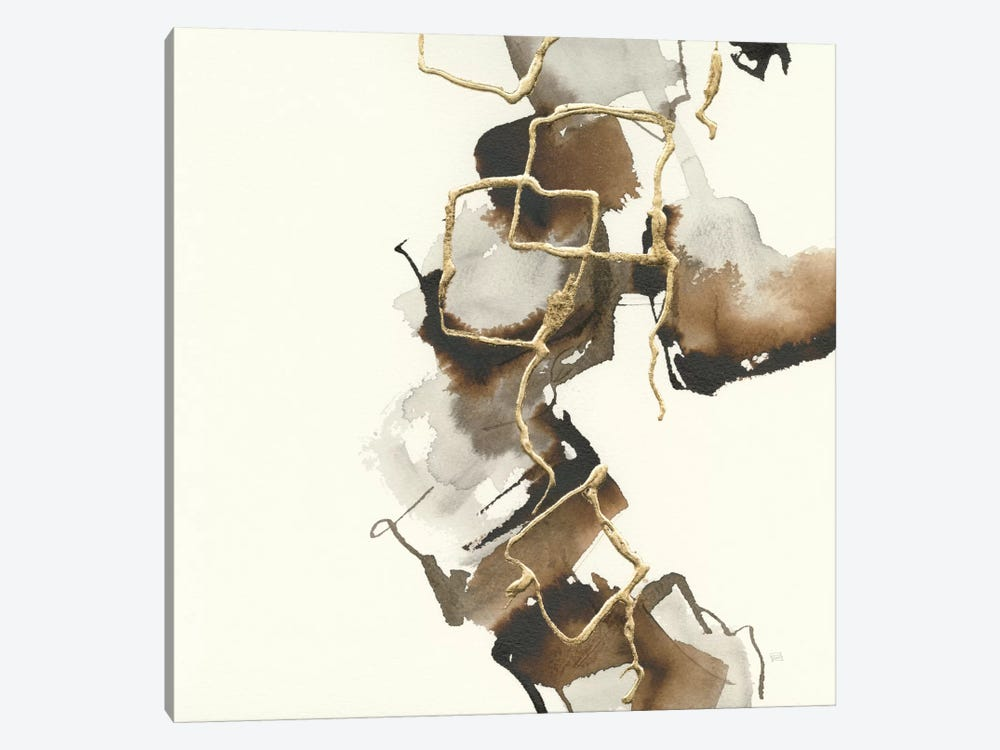Gold Squares II by Chris Paschke 1-piece Canvas Art Print