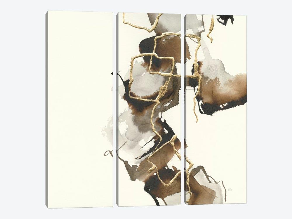 Gold Squares II by Chris Paschke 3-piece Art Print