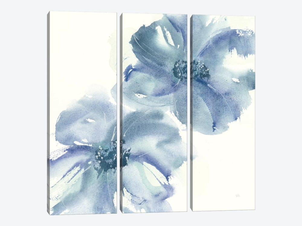 Indigo Mint II by Chris Paschke 3-piece Canvas Art Print