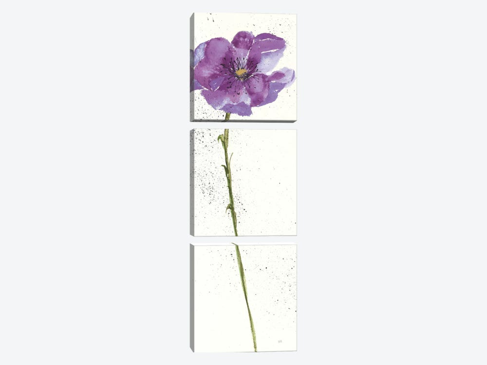 Mint Poppies In Purple I by Chris Paschke 3-piece Art Print