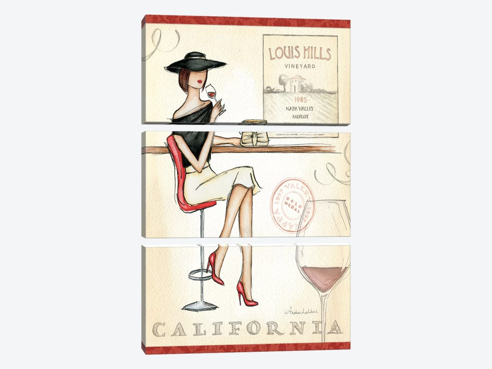 Wine Event II by Andrea Laliberte 3-piece Canvas Artwork
