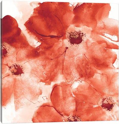 Seashell Cosmos I: Red And Orange Canvas Art Print