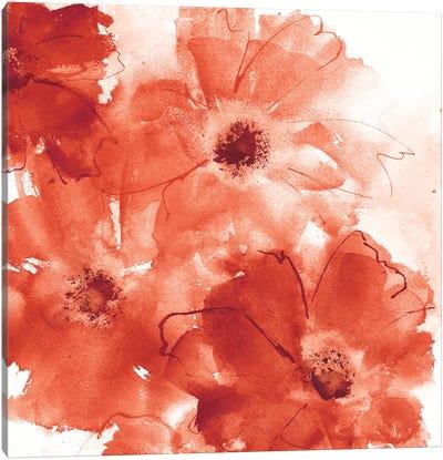 Seashell Cosmos II: Red And Orange Canvas Art Print