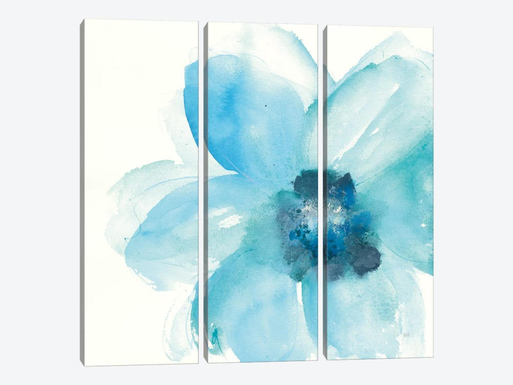 Teal Cosmos II by Chris Paschke 3-piece Canvas Wall Art